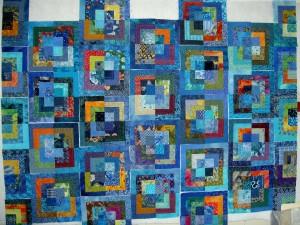 Feelin' Blue Blocks Sewn Together