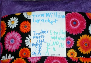 Homeroom Teacher Pillow, back