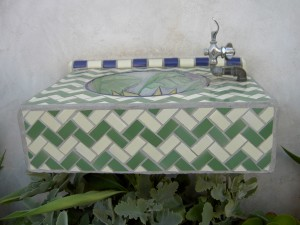 Tile water fountain