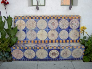 Tile Circle Bench