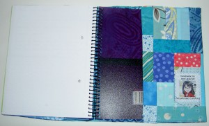 Journal Cover, Back Flap detail