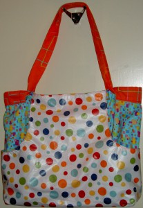Dotted Multi-Tasker Tote