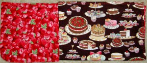 Raspberry Cake Napkin
