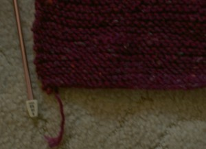 Knitted scarf - detail