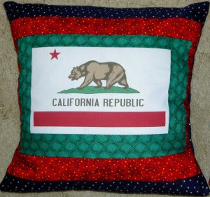 California Flag pillow