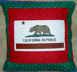 Bear Flag pillow #2