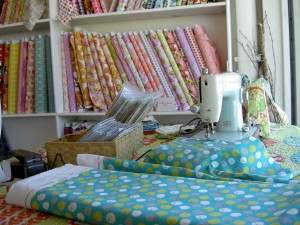 Birch Fabrics Display Window