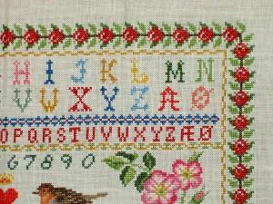 Cross Stitch Sampler Top Corner