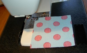 Sew patches together in groups of 2