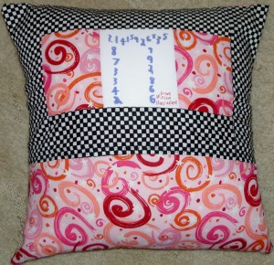 2011 Math Teacher Pillow back