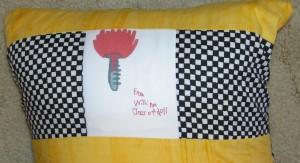 2011 Science Teacher Pillow back