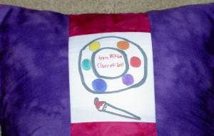 2011 Art Teacher Pillow back