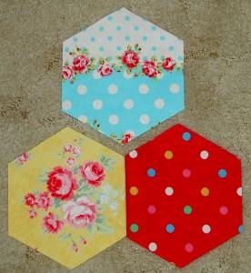 3 hexagons