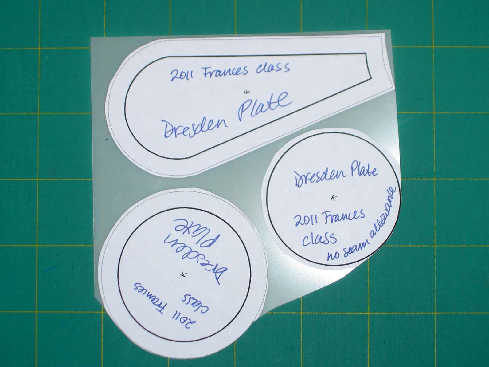 Sampler class making a dresden plate artquiltmaker blog for How to make a dresden plate template