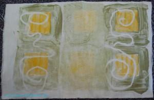 Squares Monoprint