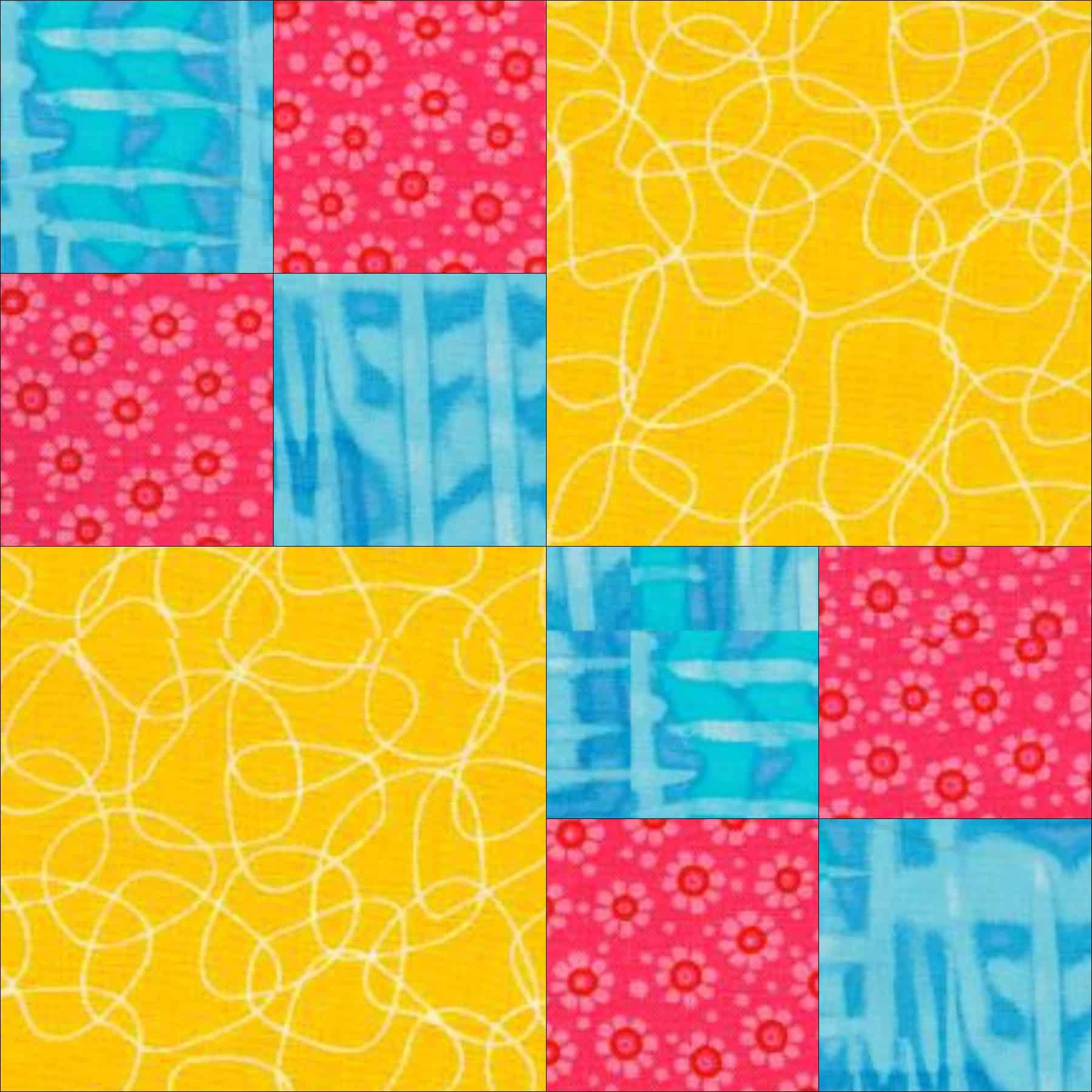 Free Quilt Patterns And Blocks : Double Four Patch Quilt Pattern