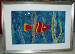 Kissy Fish framed
