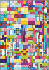 Block-a-Long Sampler Quilt