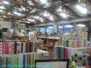 Broadway Quilts Interior