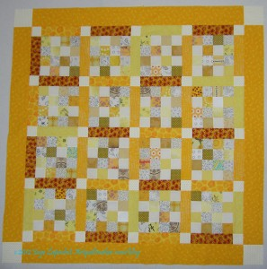 Yellow Donation Top with borders