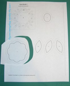 Rough cut pattern out for templates