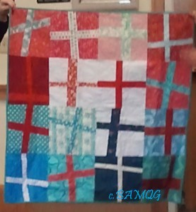 Cross/Plus charity quilt