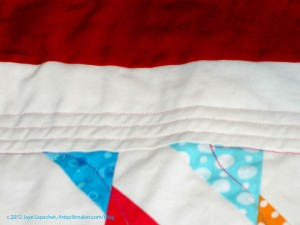 Quilting the 1st Border