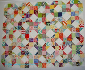 Patchwork Wheel Blocks Done