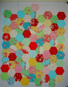 Flower Sugar Hexagon in progress