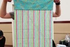 Pink & Blue Striped Pillowcase