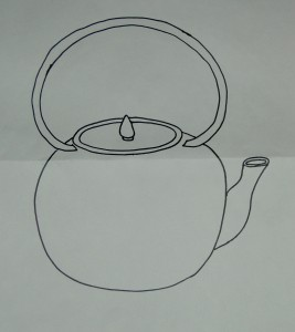 Drawing for tea kettle