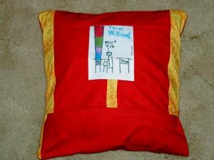 Teacher Aide Pillow, back