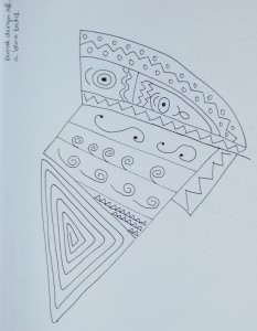 Drawing the Blue Batik