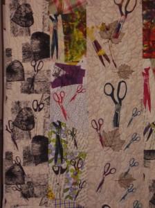 Scissor Quilt - detail 1