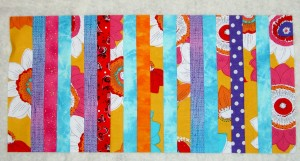 Strips sewn for Pencil Roll #2