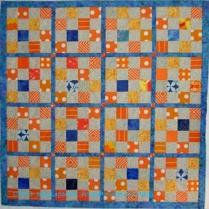 Orange & Grey Donation Quilt