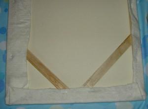 Batting on; centering the fabric