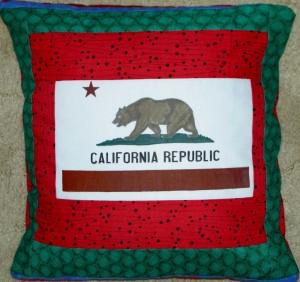Bear Flag pillow #2