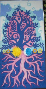 "Seasons Cycle; Spring Tree  30""x58"""