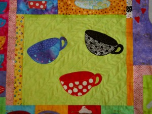 3 Cups Half Quilted