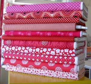 Cherry Red/Pink Fabric Group