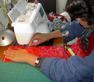 Sewing the Burrito