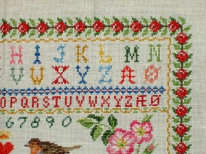 Cross Stitch Sampler Top Corner