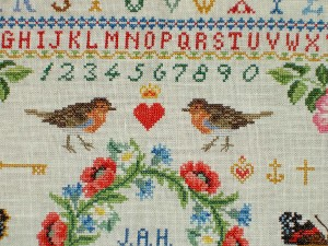 Cross Stitch Sampler Top/Middle