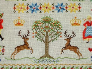 Cross Stitch Sampler Bottom