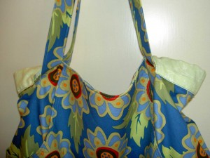 Blue Flower Tote Bag - detail
