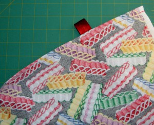 French seam with Ribbon Tie