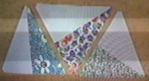 Twirling Triangles Half Block