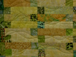 Sunshine over Aquamarine by Laureen Neily -quilting detail