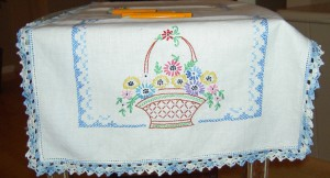 Basket Embroidery Piece
